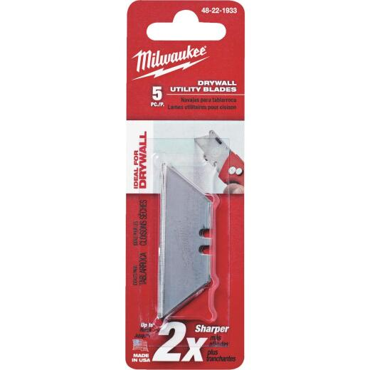 Milwaukee Drywall 2-Point 2-3/8 In. Utility Knife Blade (5-Pack)