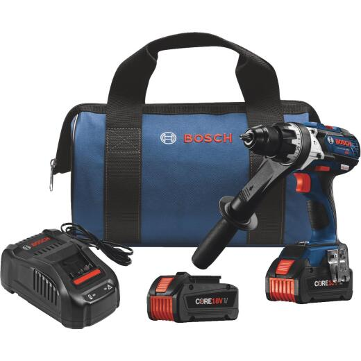 Bosch 18 Volt Lithium-Ion Brushless 1/2 In. Cordless Hammer Drill Kit