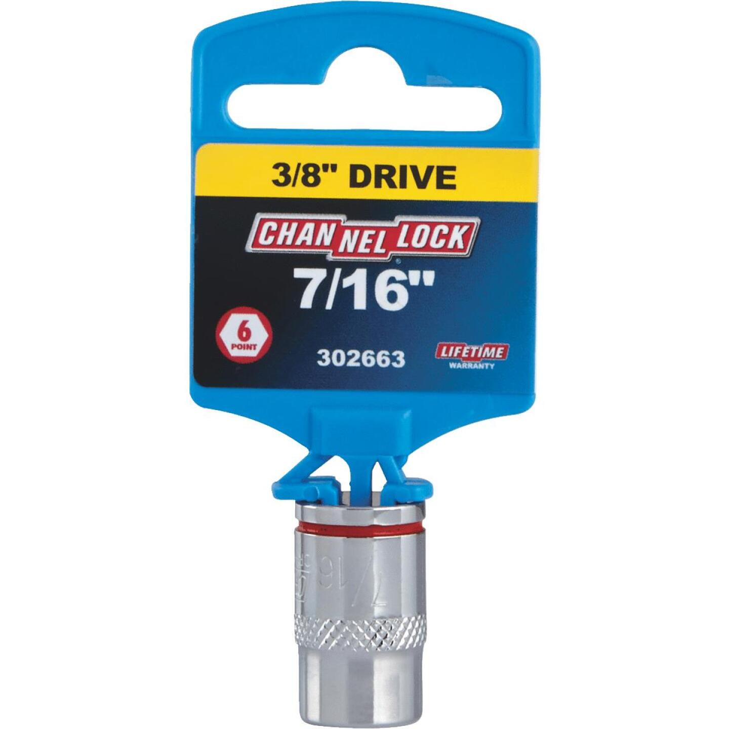 Channellock 3/8 In. Drive 7/16 In. 6-Point Shallow Standard Socket Image 2