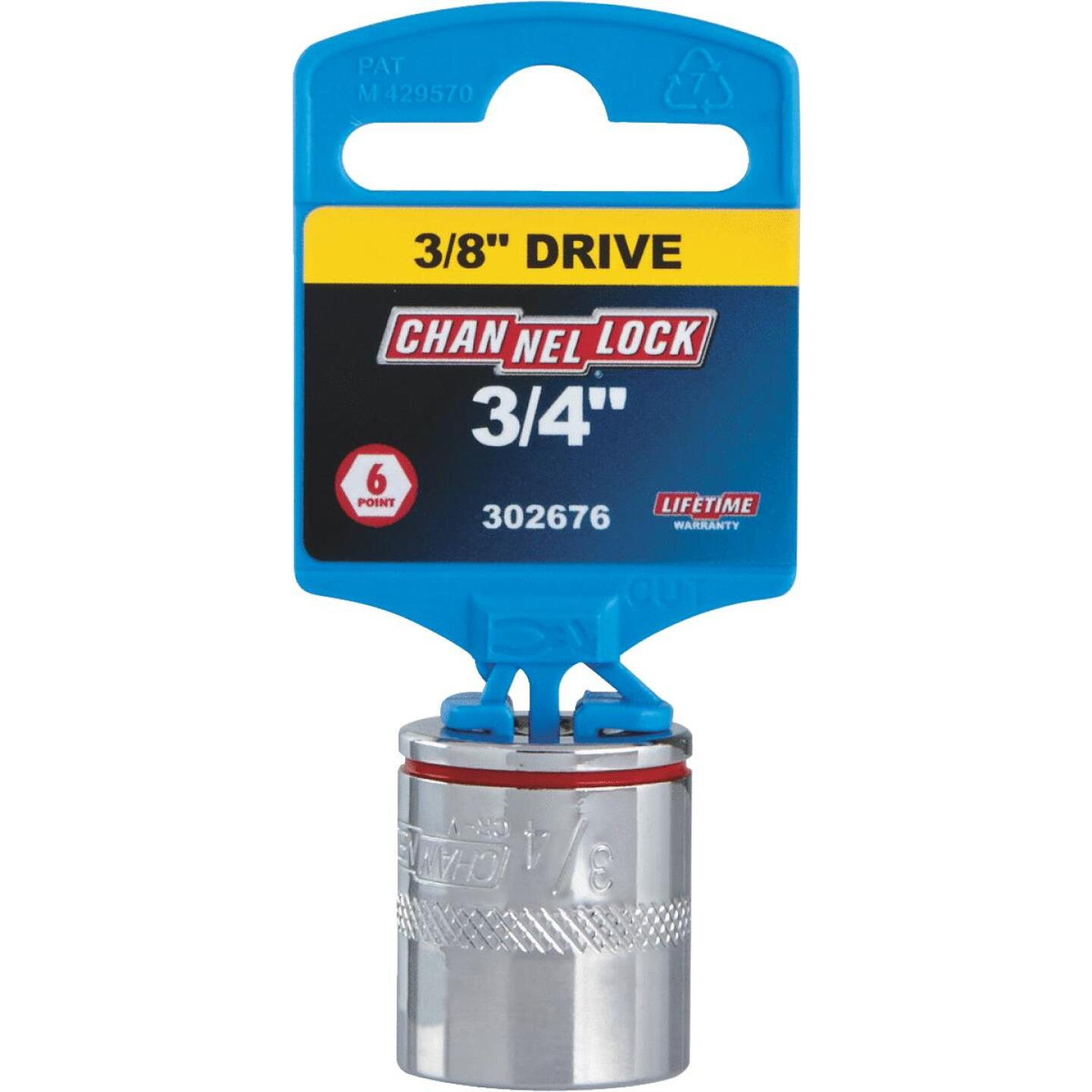 Channellock 3/8 In. Drive 3/4 In. 6-Point Shallow Standard Socket Image 2