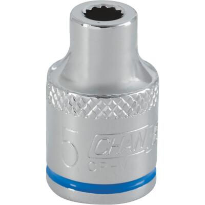 Channellock 3/8 In. Drive 5 mm 12-Point Shallow Metric Socket