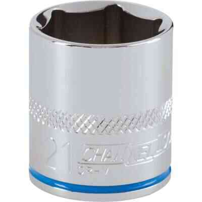 Channellock 3/8 In. Drive 21 mm 6-Point Shallow Metric Socket