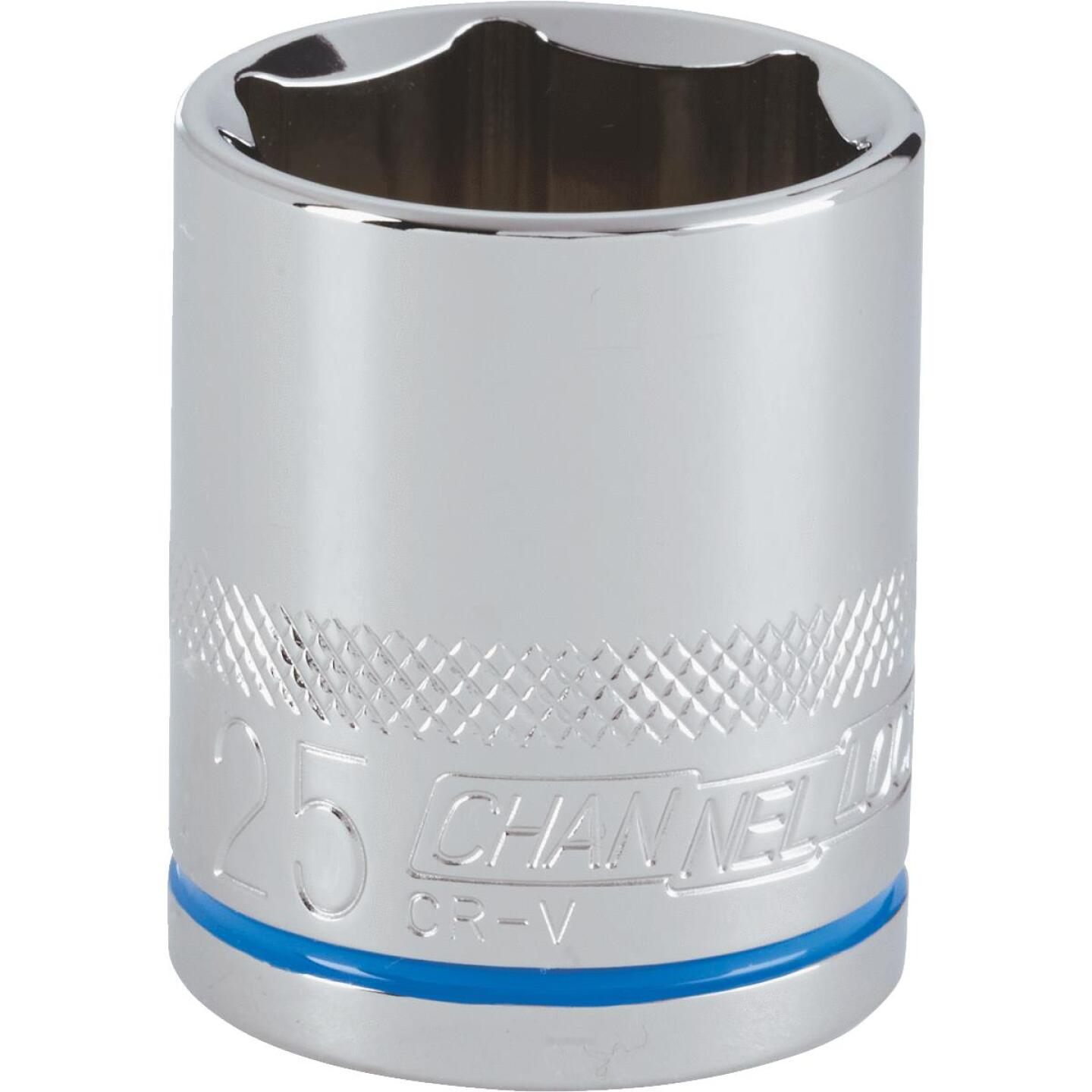Channellock 1/2 In. Drive 25 mm 6-Point Shallow Metric Socket Image 1