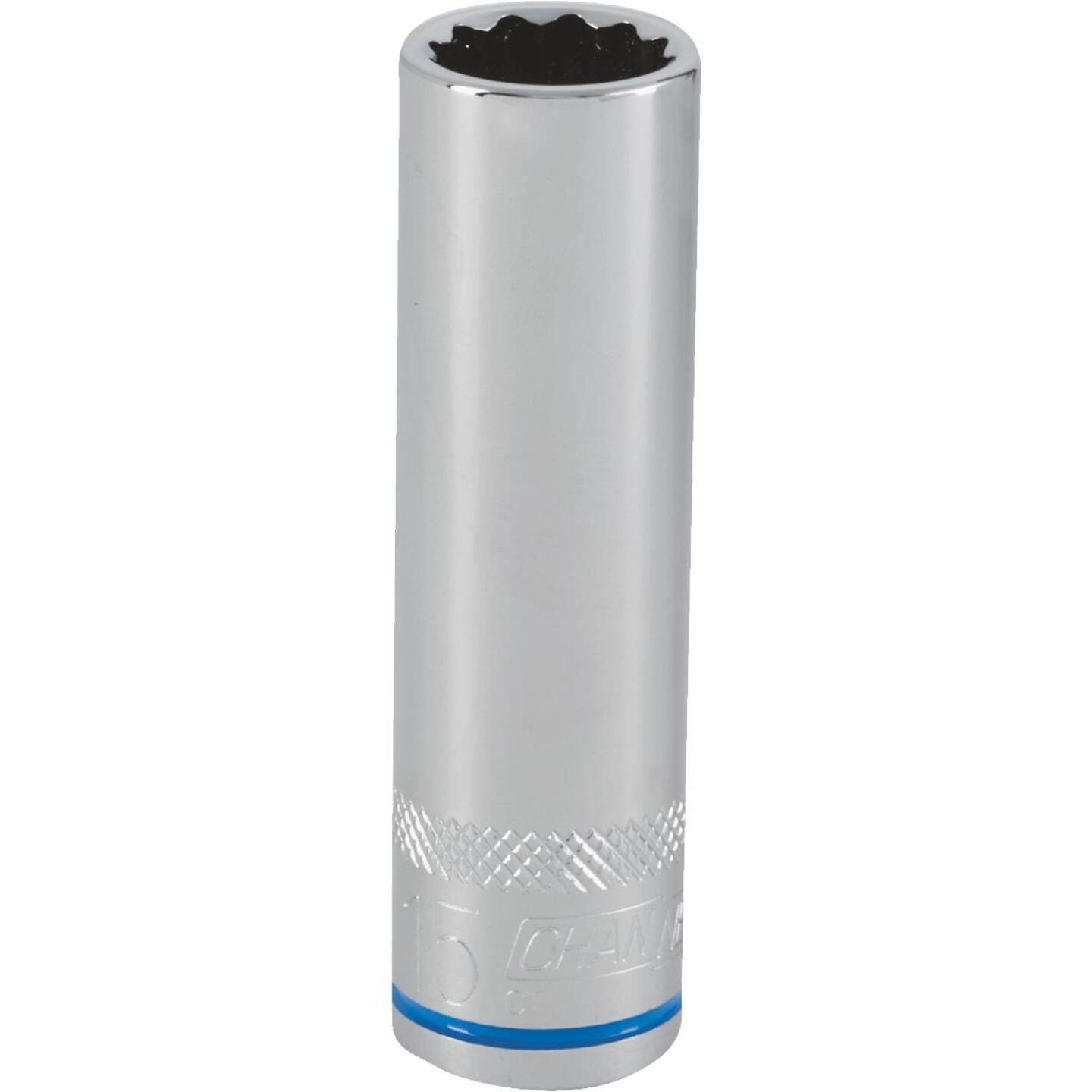 Channellock 1/2 In. Drive 15 mm 12-Point Deep Metric Socket Image 1