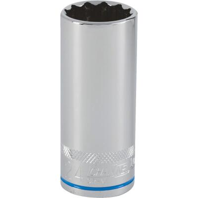 Channellock 1/2 In. Drive 24 mm 12-Point Deep Metric Socket