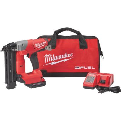 Milwaukee M18 FUEL 18 Volt Lithium-Ion Brushless 18-Gauge 2-1/8 In. Cordless Brad Nailer Kit