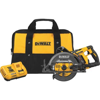 DeWalt Flexvolt 60 Volt MAX Lithium-Ion Brushless 7-1/4 In. Cordless Worm Drive Circular Saw Kit