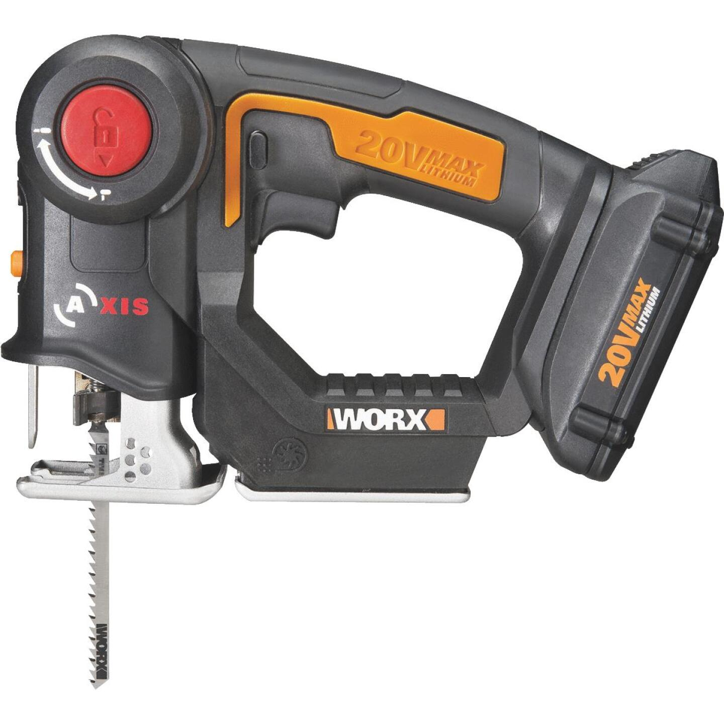 WORX 20 Volt Axis Lithium-Ion Cordless Jigsaw/Reciprocating Saw Kit Image 1