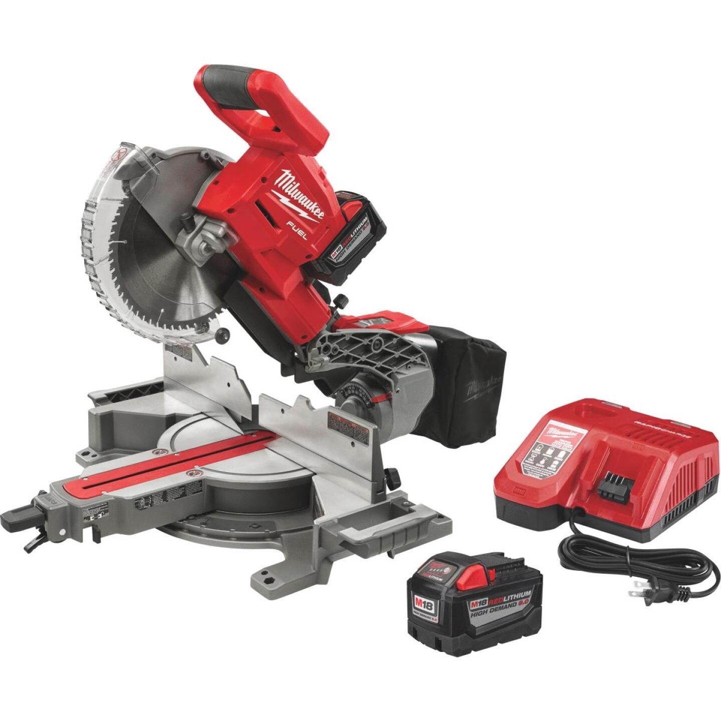 Milwaukee M18 FUEL 18-Volt Lithium-Ion Brushless Dual-Bevel Sliding Compound Cordless Miter Saw Kit Image 3
