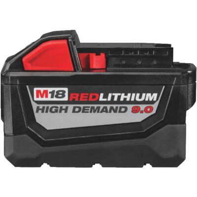 Milwaukee M18 REDLITHIUM 18 Volt Lithium-Ion 9.0 Ah High Demand Tool Battery