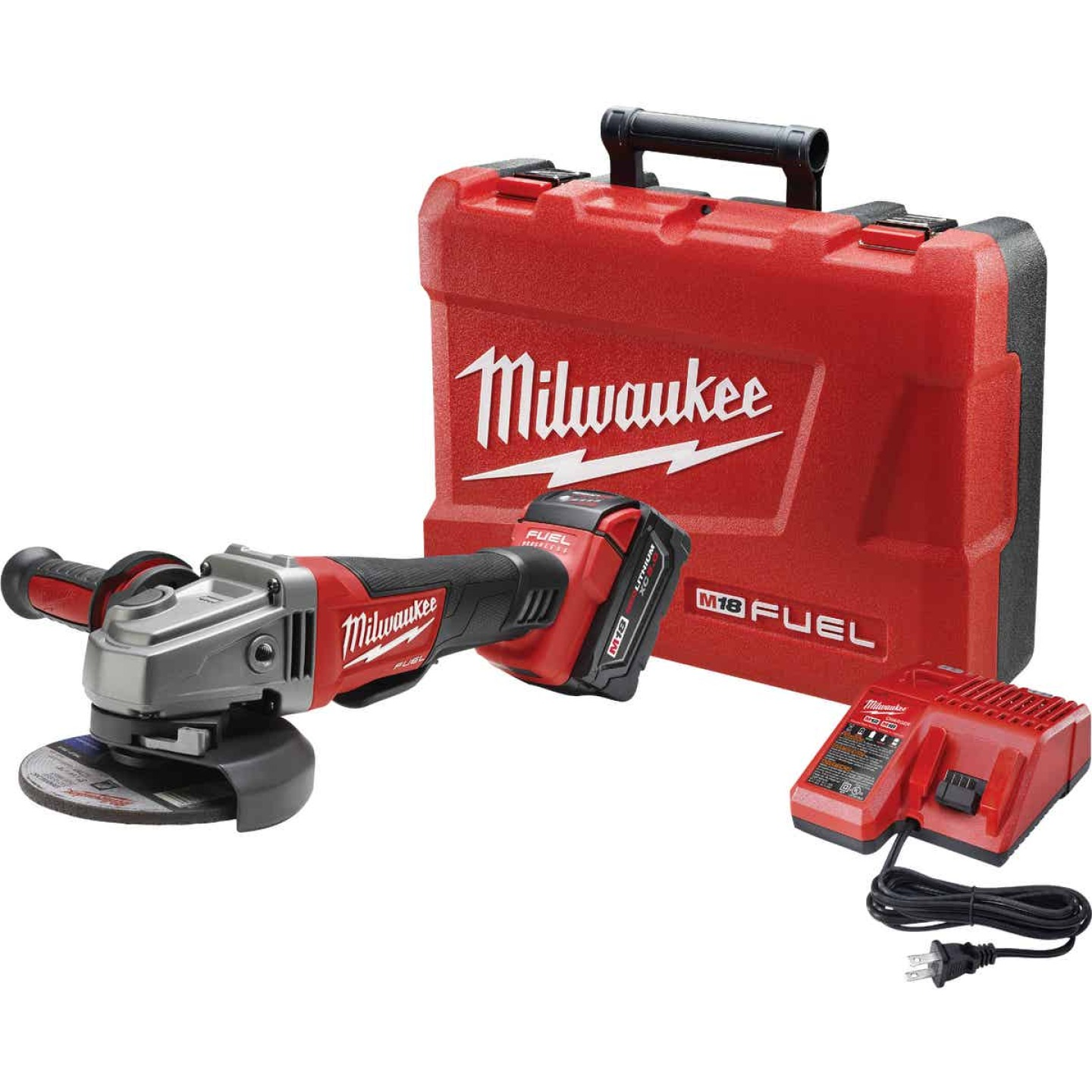 Milwaukee M18 FUEL 18-Volt Lithium-Ion 4-1/2 In. - 5 In. Brushless Cordless Angle Grinder Kit Image 1