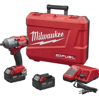 Milwaukee M18 FUEL 18 Volt Lithium-Ion Brushless 1/2 In. Mid-Torque Cordless Impact Wrench with Friction Ring Kit