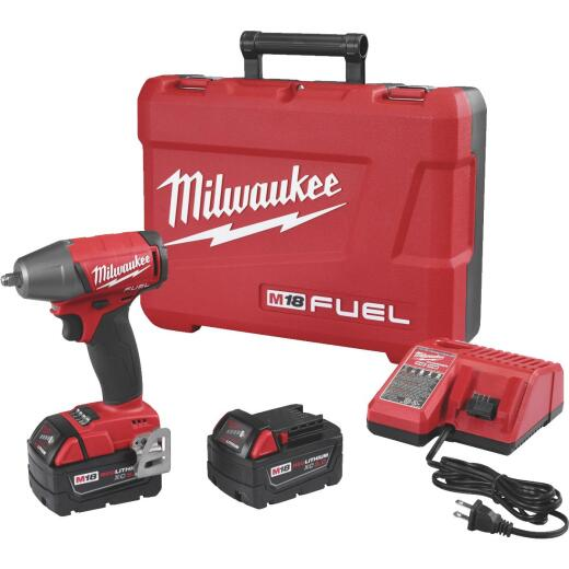 Milwaukee M18 FUEL 18-Volt Lithium-Ion Brushless 3/8 In. Compact Cordless Impact Wrench with Friction Ring Kit