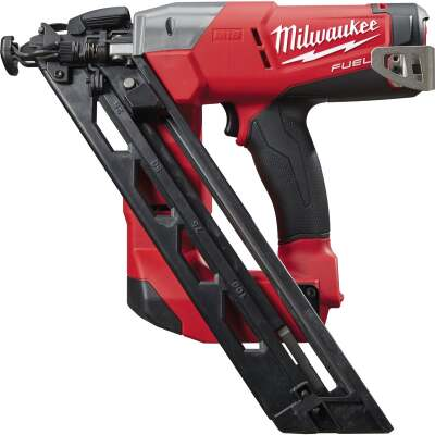 Milwaukee M18 FUEL 18 Volt Lithium-Ion Brushless 15-Gauge 2-1/2 In. Angled Cordless Finish Nailer (Bare Tool)