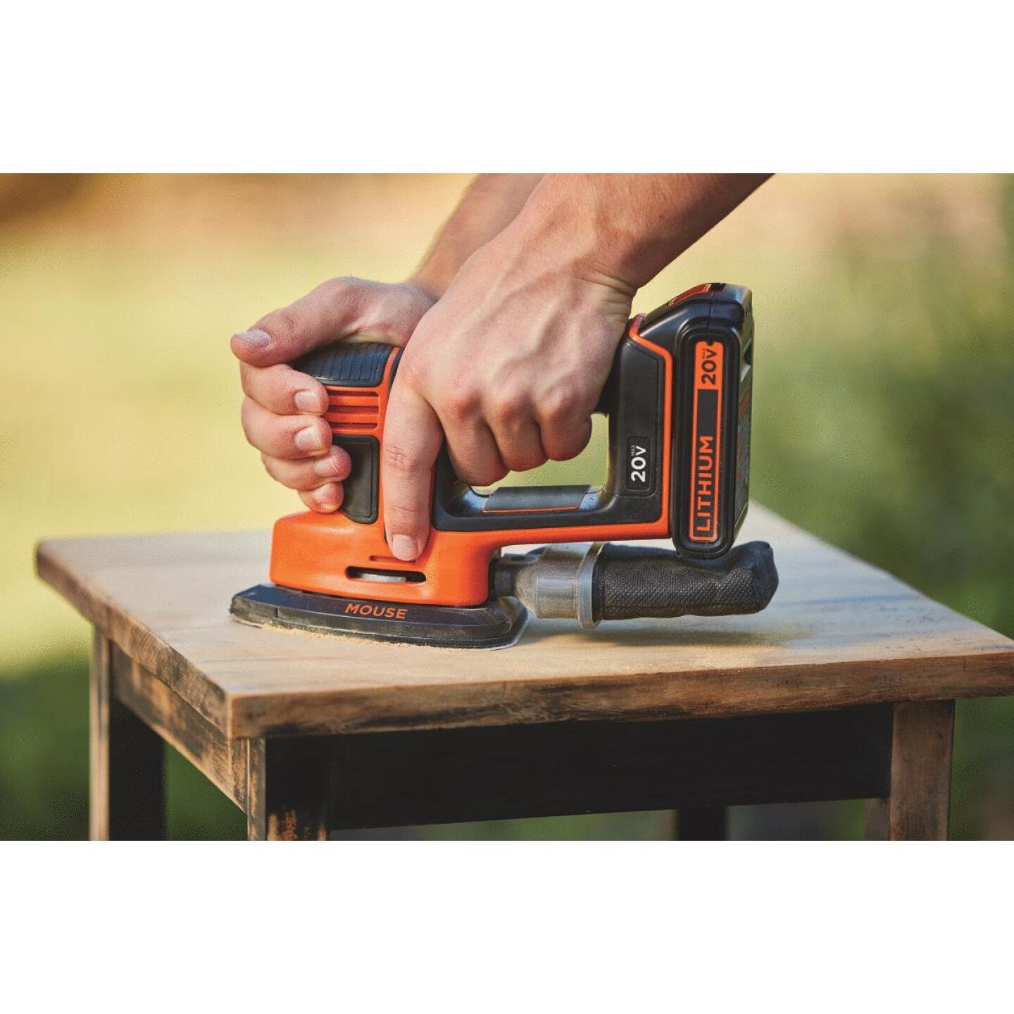 Black & Decker 20-Volt MAX Lithium-Ion Mouse Cordless Finish Sander Image 4