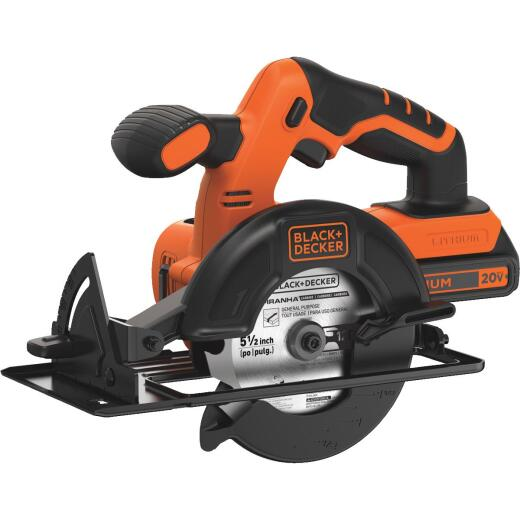 Black & Decker 20 Volt MAX Lithium-Ion 5-1/2 In. Cordless Circular Saw Kit
