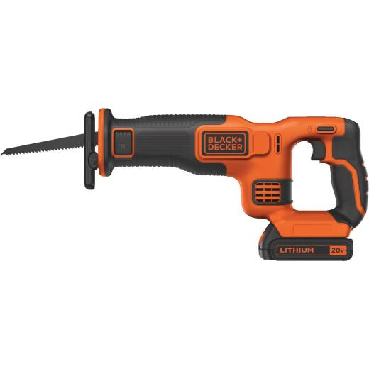 Black & Decker 20 Volt MAX Lithium-Ion Cordless Reciprocating Saw Kit