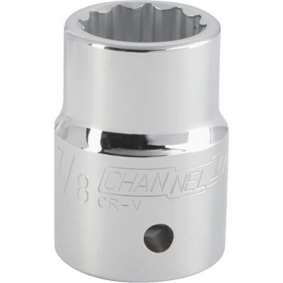 Channellock 3/4 In. Drive 7/8 In. 12-Point Shallow Standard Socket