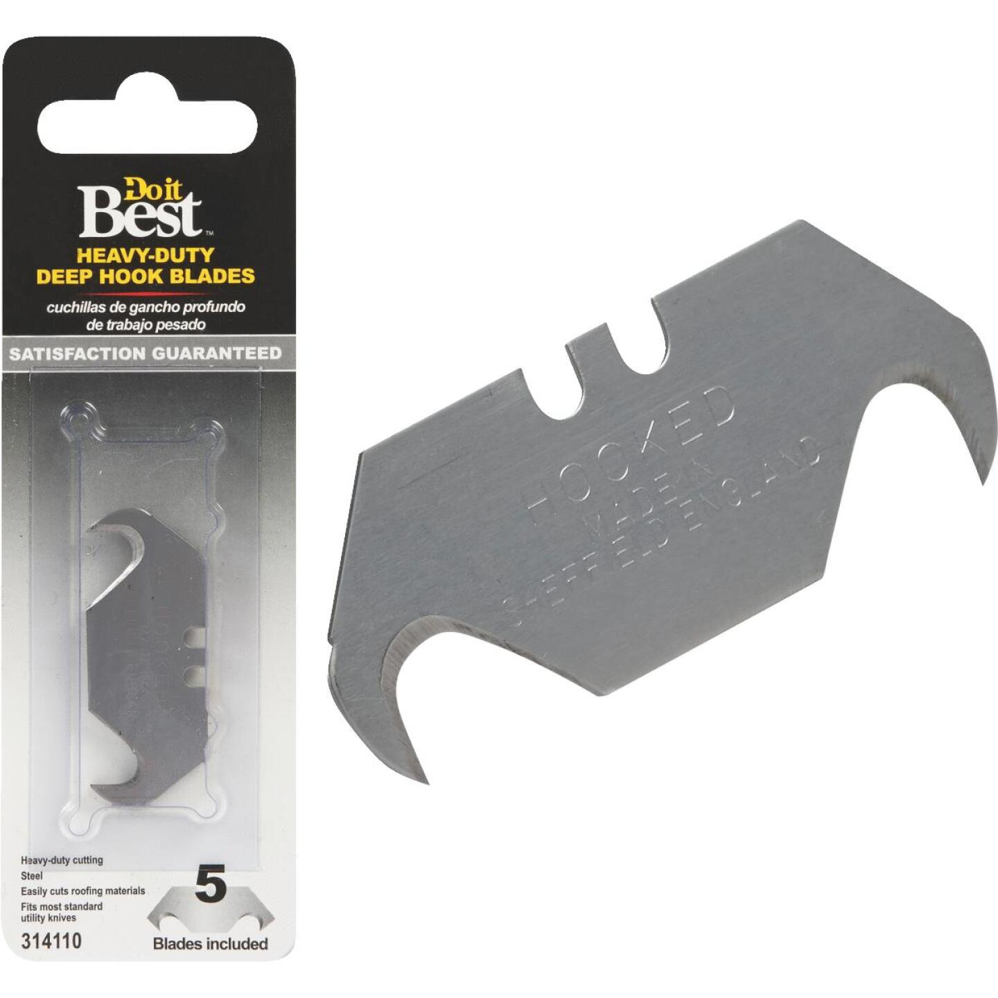 Do it Best Heavy-Duty 2-Ended Hook 2-1/3 In. Utility Knife Blade (5-Pack) Image 1