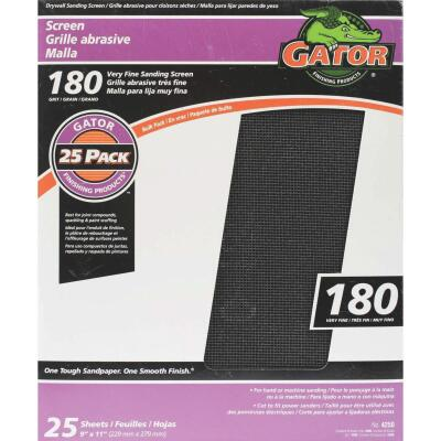Gator Grit 180 Grit 9 In. x 11 In. Drywall Sanding Screen (25 Pack)