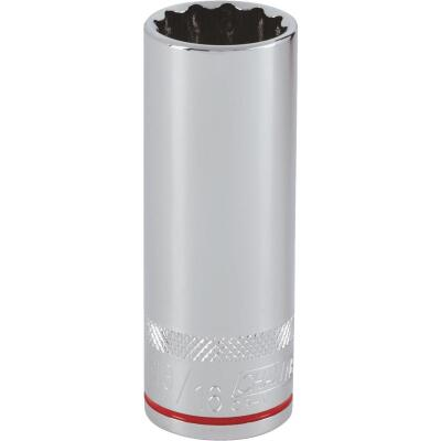 Channellock 1/2 In. Drive 13/16 In. 12-Point Deep Standard Socket
