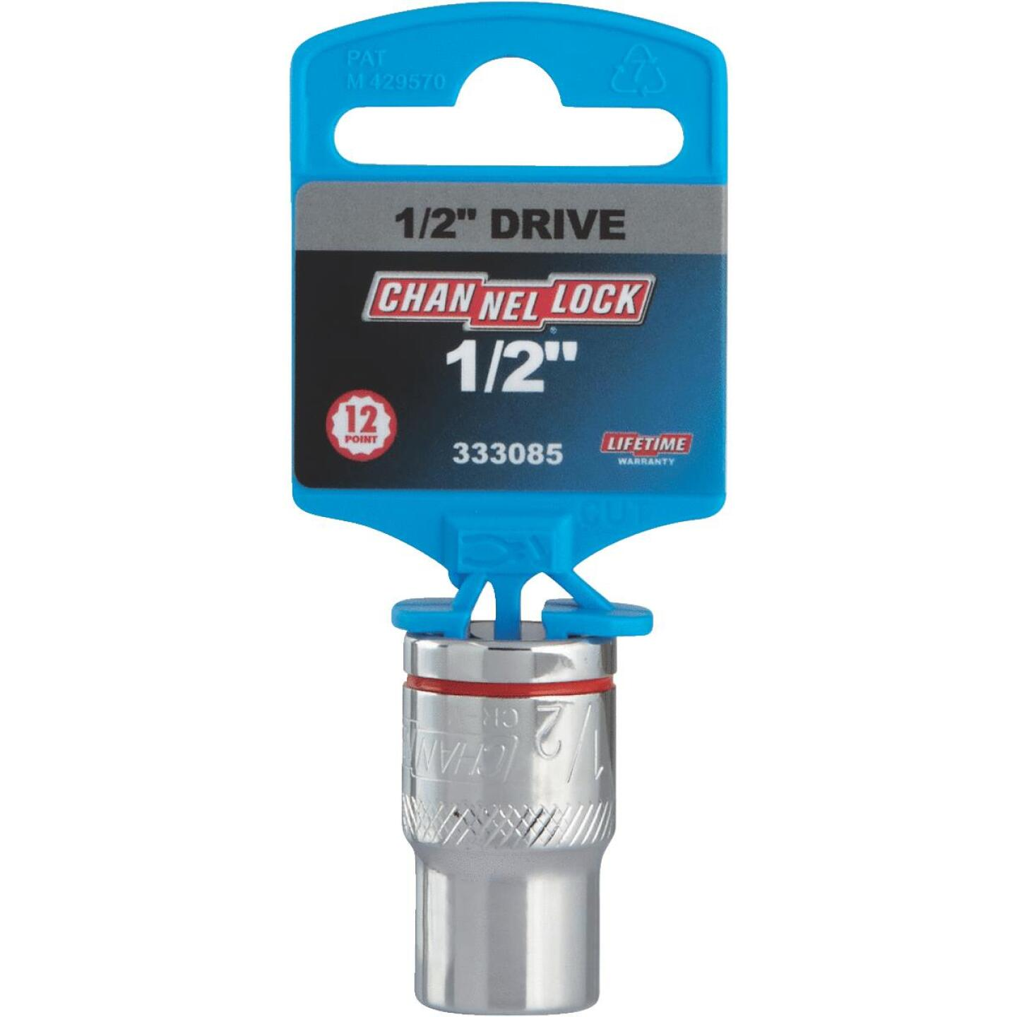 Channellock 1/2 In. Drive 1/2 In. 12-Point Shallow Standard Socket Image 2