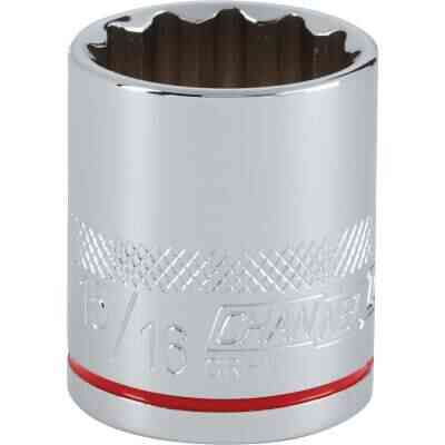 Channellock 1/2 In. Drive 15/16 In. 12-Point Shallow Standard Socket