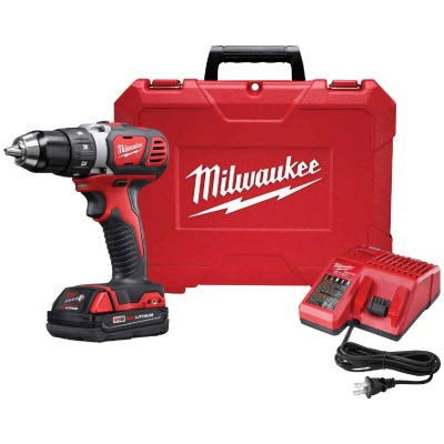 Milwaukee M18 18 Volt Lithium-Ion 1/2 In. Compact Cordless Drill Kit
