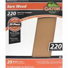 Gator Bare Wood 9 In. x 11 In.. 220 Grit Extra Fine Sandpaper (25-Pack) Image 1