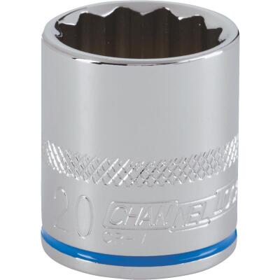 Channellock 3/8 In. Drive 20 mm 12-Point Shallow Metric Socket