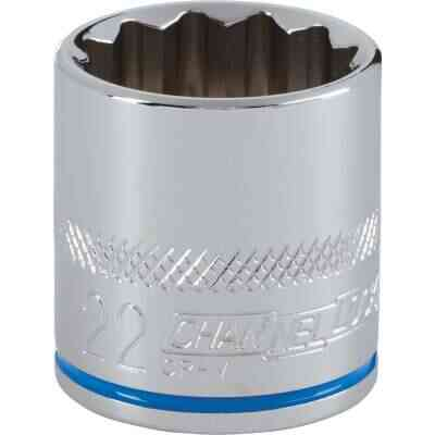 Channellock 3/8 In. Drive 22 mm 12-Point Shallow Metric Socket