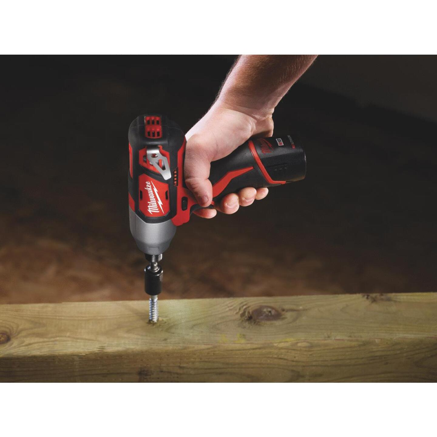 Milwaukee M12 12 Volt Lithium-Ion 1/4 In. Hex Cordless Impact Driver Kit Image 5