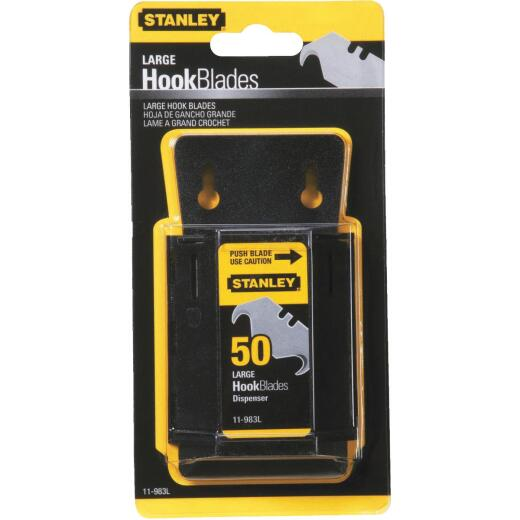 Stanley Large 2-Ended Hook 1-7/8 In. Utility Knife Blade (50-Pack)