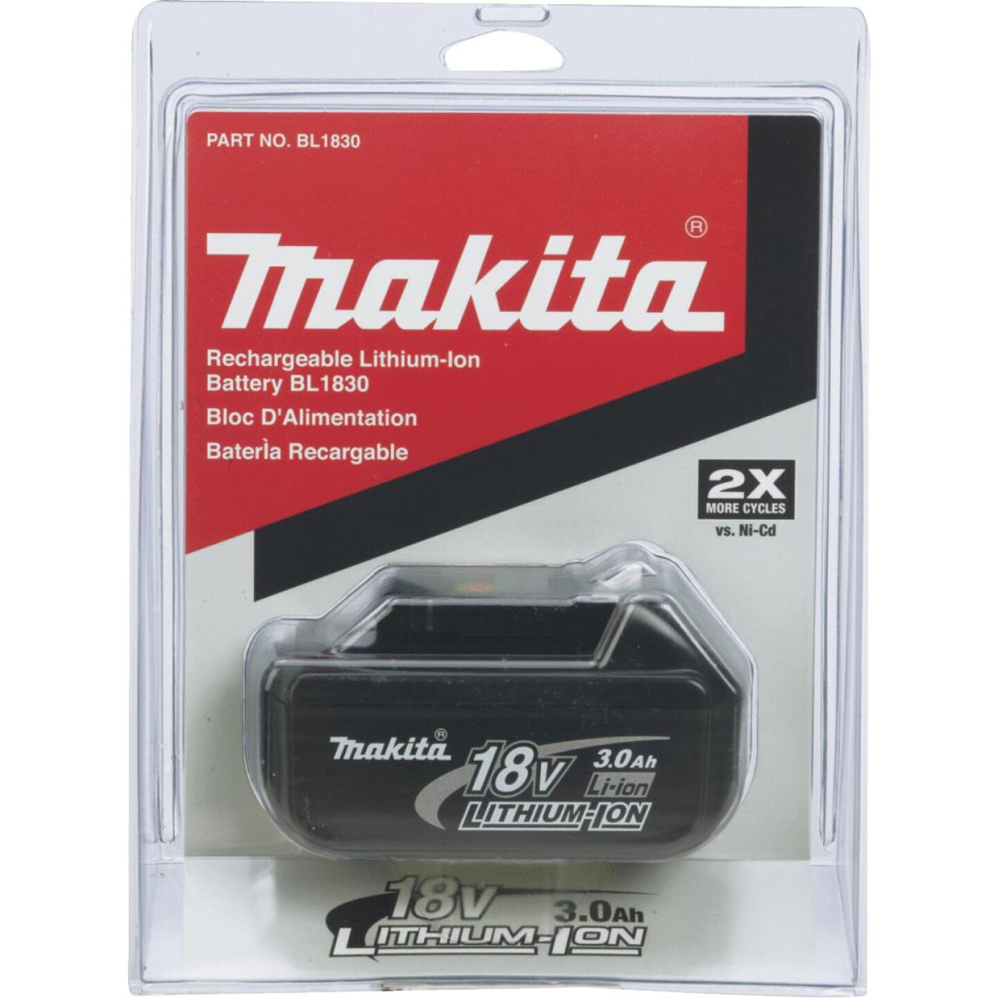 Makita 18 Volt LXT Lithium-Ion 3.0 Ah Tool Battery Image 2