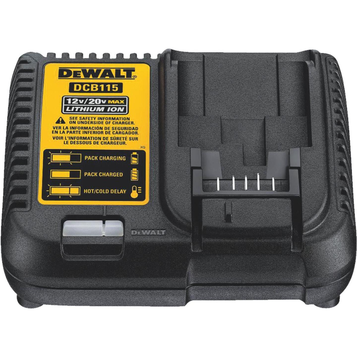 DeWalt 12-Volt to 20-Volt MAX Lithium-Ion Battery Charger Image 1