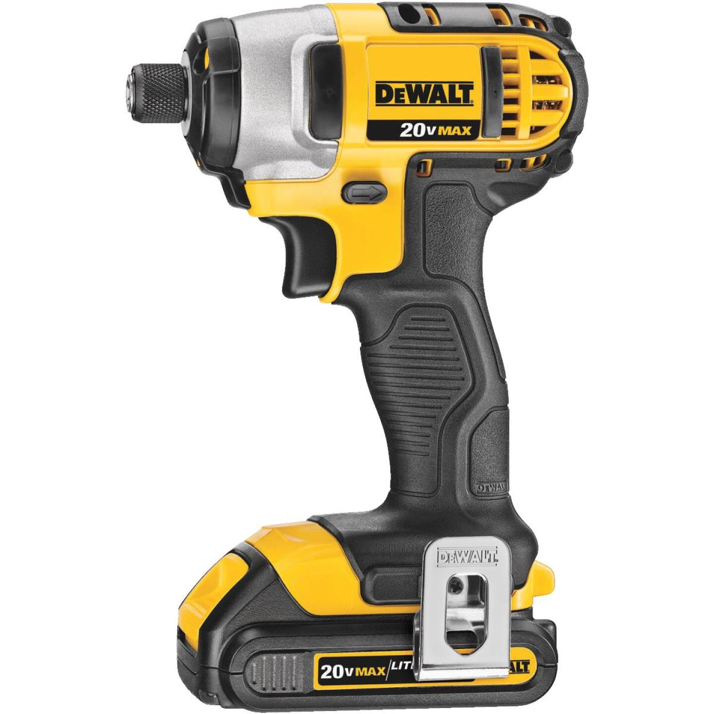 DeWalt 20 Volt MAX Lithium-Ion 1/4 In. Hex Cordless Impact Driver Kit (2-Battery) Image 2