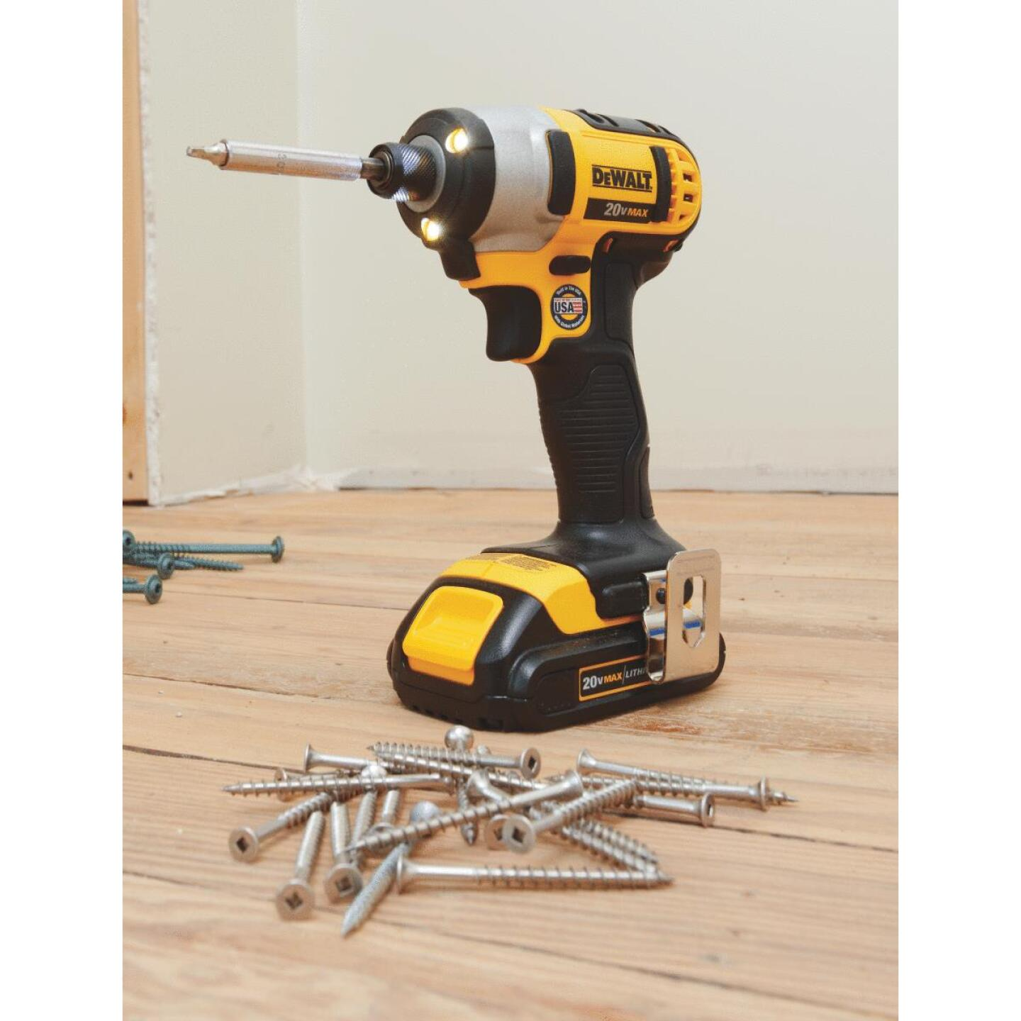 DeWalt 20 Volt MAX Lithium-Ion 1/4 In. Hex Cordless Impact Driver Kit (2-Battery) Image 3