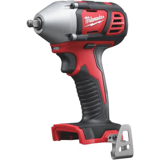 Milwaukee M18 18 Volt Lithium-Ion 3/8 In. Cordless Impact Wrench with Friction Ring (Bare Tool)