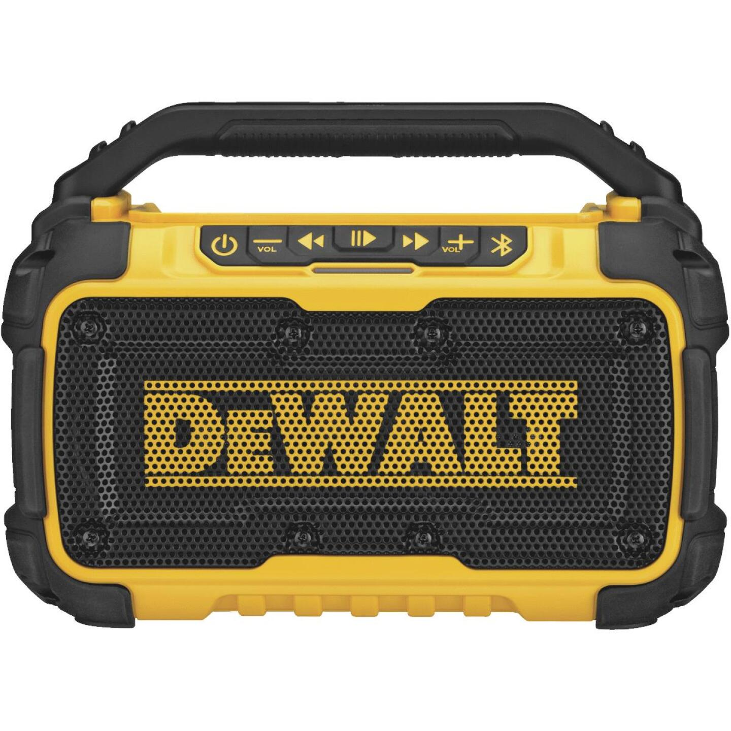DeWalt 12 Volt/20 Volt MAX Lithium-Ion Jobsite Corded/Cordless Bluetooth Speaker (Bare Tool) Image 1