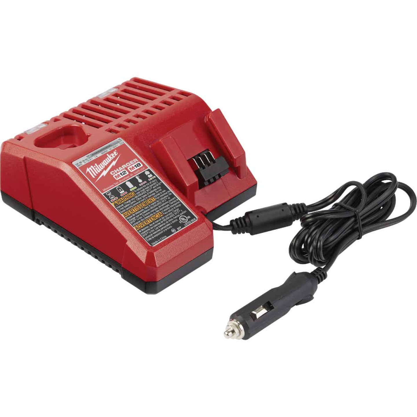 Milwaukee M18/M12 18 Volt and 12 Volt Lithium-Ion DC Vehicle Battery Charger Image 1