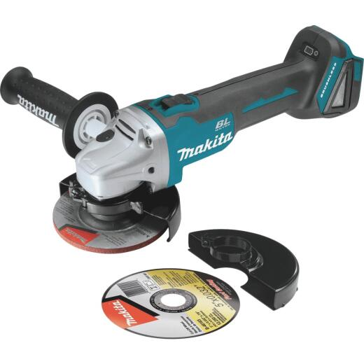 Makita 18 Volt LXT Lithium-Ion Brushless Cordless 4-1/2 In.-5 In. Cordless Angle Grinder/Cut-Off Tool (Bare Tool)