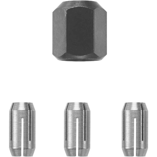 RotoZip 1/8 In., 5/32 In., 1/4 In. Collet Nut Kit (4-Pieces)