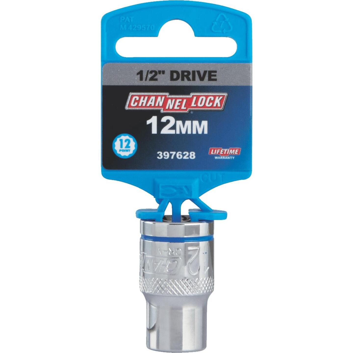 Channellock 1/2 In. Drive 12 mm 12-Point Shallow Metric Socket Image 2