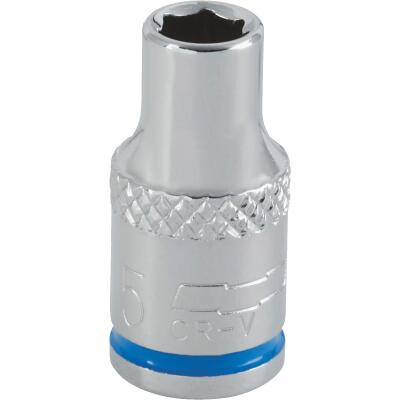 Channellock 1/4 In. Drive 5 mm 6-Point Shallow Metric Socket