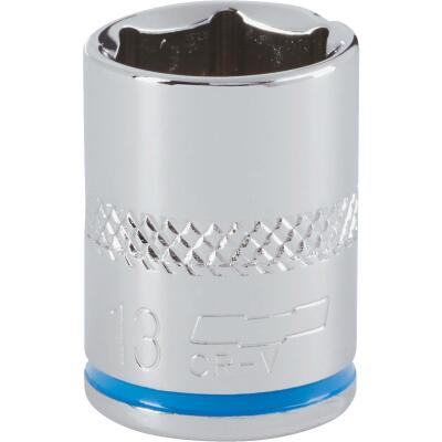 Channellock 1/4 In. Drive 13 mm 6-Point Shallow Metric Socket