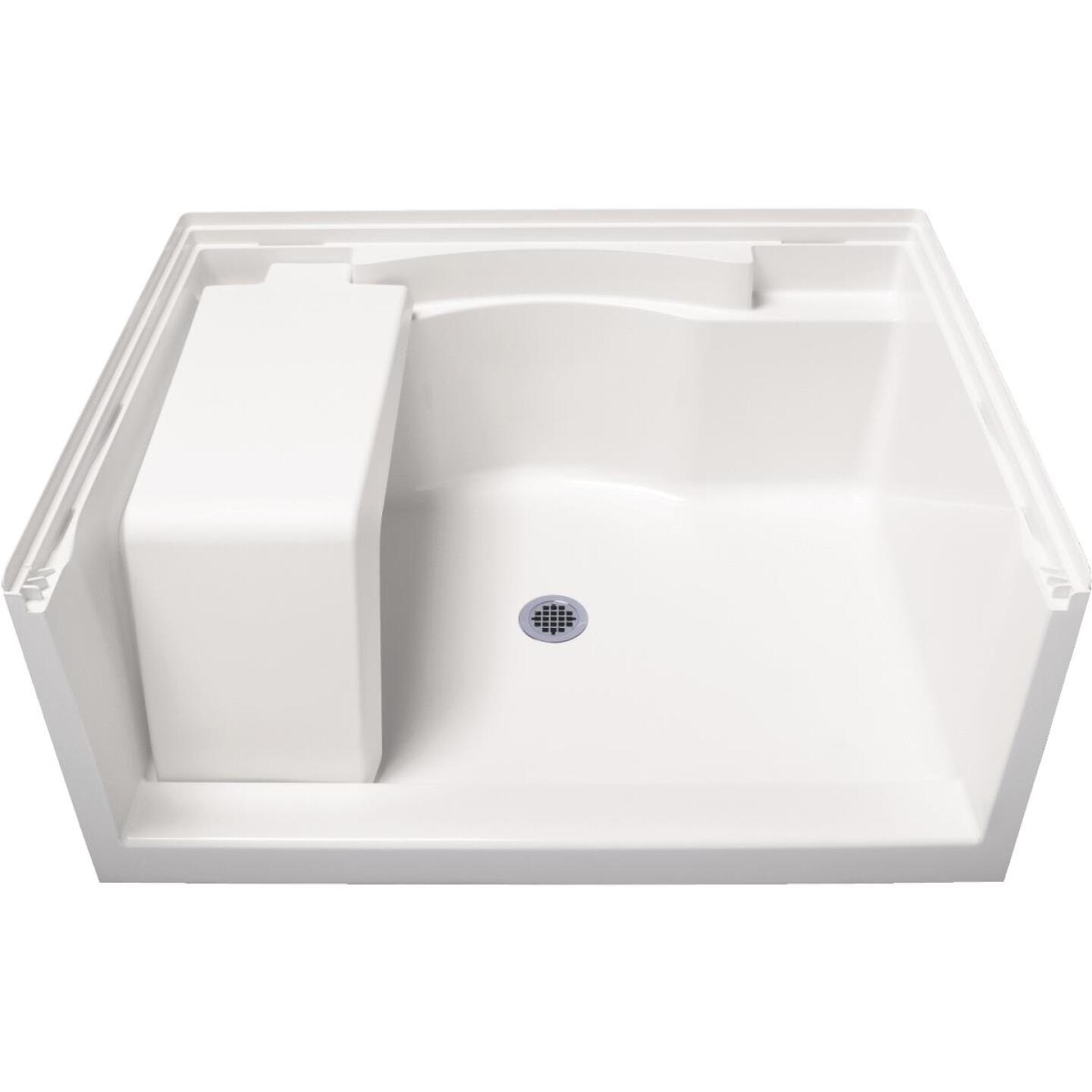 Sterling Accord 48 In. W x 36 In. D Center Drain Seated Shower Floor & Base in White Image 2