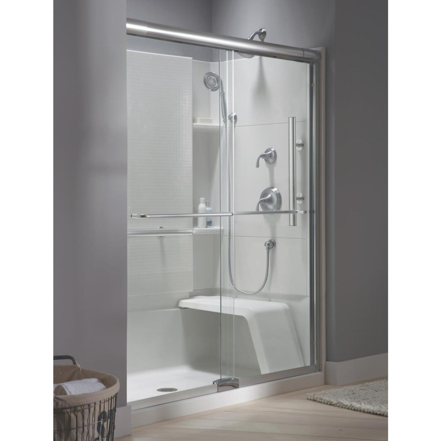 Sterling Accord 48 In. W x 36 In. D Center Drain Seated Shower Floor & Base in White Image 3