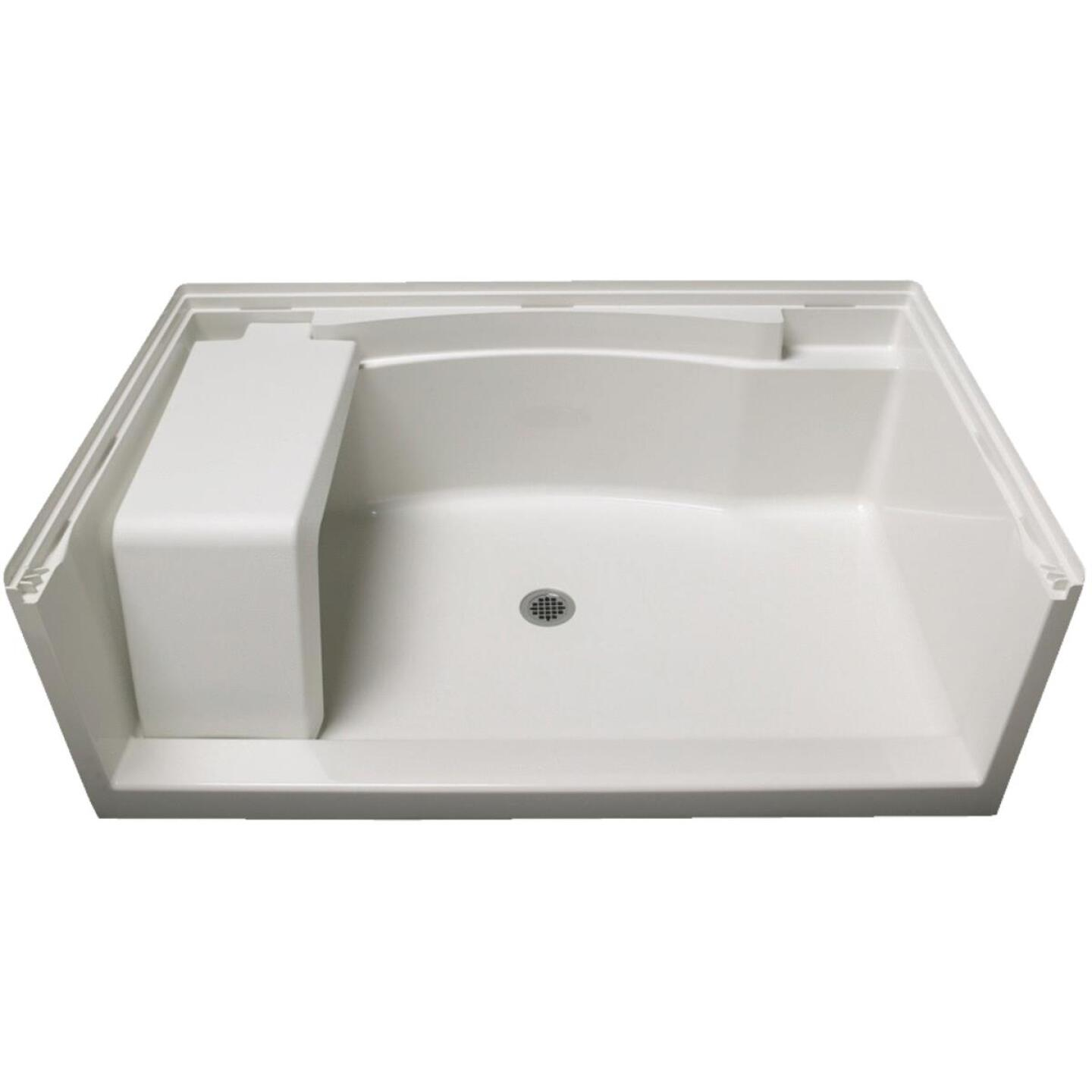 Sterling Accord 60 In. W x 36 In. D Center Drain Seated Shower Floor & Base in White Image 1