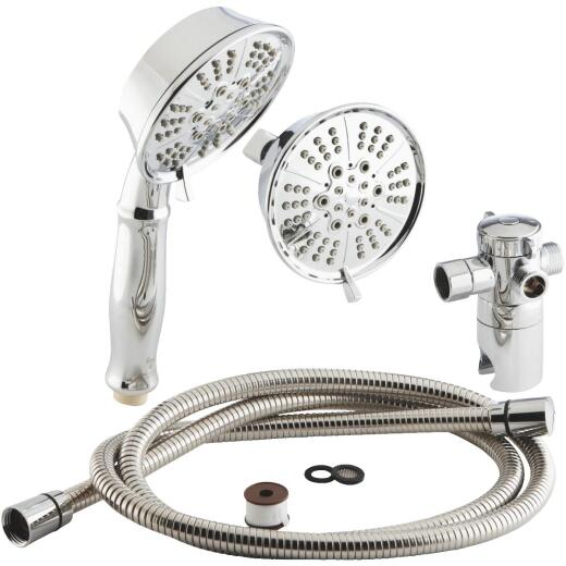 Home Impressions 5-Spray 2.0 GPM Combo Hand-Held Shower & Showerhead, Chrome