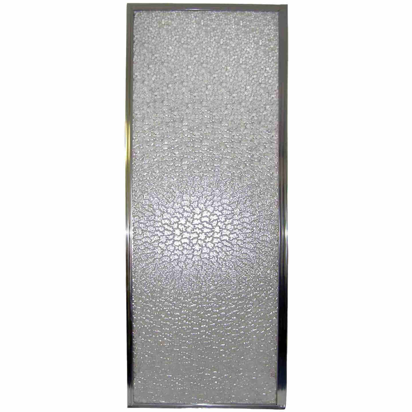 Mustee Durastall 28 In. W. X 64 In. H. Chrome Opaque Glass Hinged Shower Door Image 1